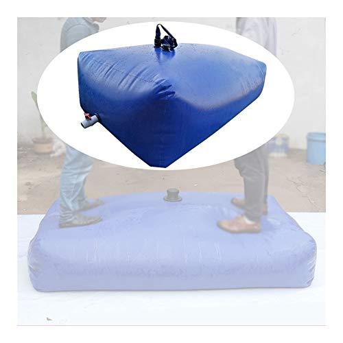 YJFENG Recipiente De Agua Plegable, Bolsa De Agua Blanda De Emergencia Antigota Portátil con Válvula De Agua, para Senderismo Al Aire Libre, Pesca (Color : Blue, Size : 120L/0.5x0.6x0.4M)