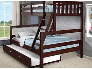 Donco Kids Austin Bunk Bed, Twin/Full/Twin, Dark Cappuccino