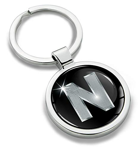 Biomar Labs® 3D Metal Alphabet A-Z Personalised Initials Keyring Keychain...