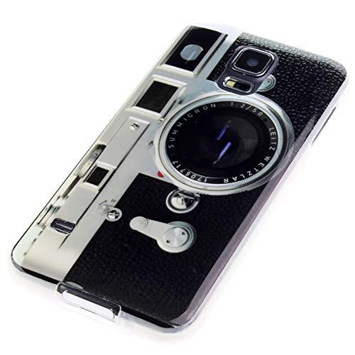 Handy Lux® Schutz Hülle Etui Silikon TPU Hülle Cover Design Motiv für Samsung Galaxy A41 A415F 2020, Kamera Retro