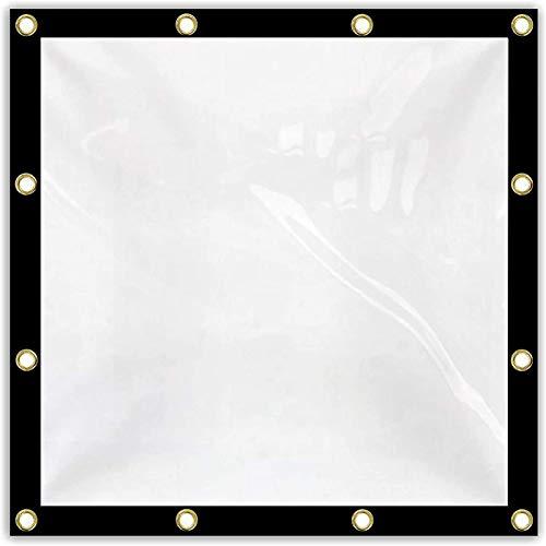 FXPCYGZ Lona Impermeable Transparente Lámina De Lona De PE con Aislamiento Antienvejecimiento con Ojales De Metal para Toldo De BalcóN, Barco, Caravana O Piscina(4 * 6m(13.1 * 19.7ft))