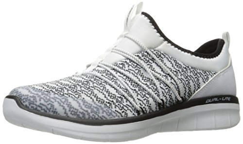 Skechers 12379, Synergy 2.0-Simply Chic Donna, Bianco (White/Black), 39 B(M) EU
