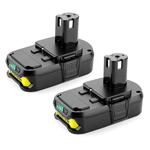 Powilling 2Pack 3000mAh Ryobi 18V Lithium Battery Pack Replacement for