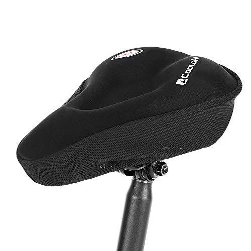 Lixada Fahrradsattelkissen Fahrradsitzabdeckung Ergonomisch Komfortabel Silikongelüberzug für Stationäre Übung Radfahren