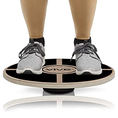 Balance Board by Vive - Wooden Wobble Fitness Workout Exercise Rocker - Twist Trainer for Abs, Arms, Legs, Core Tone, Surf, Gymnastics, Ballet, Exercise, Occupational and Physical Therapy
