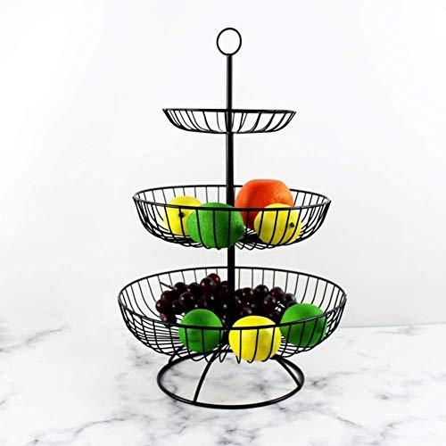 Cuenco RamenSoporte de cesta de frutas de tres niveles, mostrador de la tienda de cocina o recorte de metal redondo colgante para almacenar verduras1215