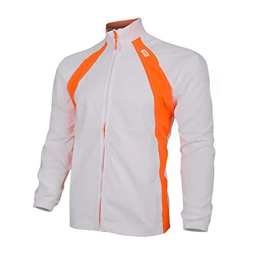 42K Running - Chaqueta Técnica Cortavientos 42k WIND Blanco/Naranja XL