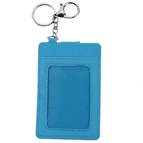 NYAOLE - Tarjetero para tarjeta de autobús con llavero, ideal como regalo para niños y adultos, azul