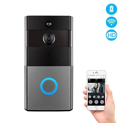 LALEO Timbre De Vídeo con WiFi con Intercomunicador De Audio Y Detección De Movimiento Compatible con Amazon Alexa Echo Show Google Home Chrome Cast Control De Voz