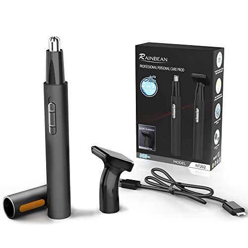 Ear and Nose Hair Trimmer for men and women-2020, Professional nose hair trimmer with Stainless Steel Blad & IPX7 Waterproof System, Facial Eyebrow and Nose Hair Remover.