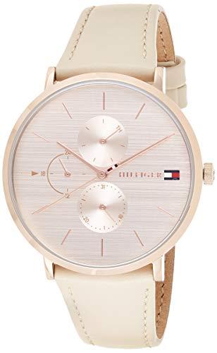 Tommy Hilfiger Damen Multi Zifferblatt Quarz Uhr mit Leder Armband 1781948