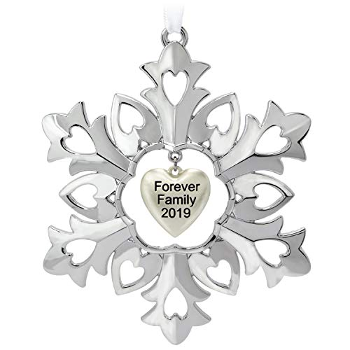 Hallmark Keepsake Christmas 2019 Year Dated Forever Family Snowflake Ornament, Metal