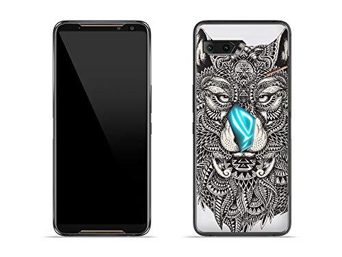 etuo Hülle für Asus ROG Phone 2 - Hülle Fantastic Hülle - Azteken Wolf Handyhülle Schutzhülle Etui Hülle Cover Tasche für Handy