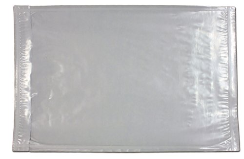 6 x 9 Clear Plastic Adhesive Packing List Mailing/Shipping Envelope Pouch (100 Pack)