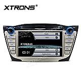 XTRONS Doppel 2 DIN 17,8 cm HD Touchscreen Autoradio DVD GPS Navi Player mit Screen Mirroring Funktion für Hyundai ix35 Tucson