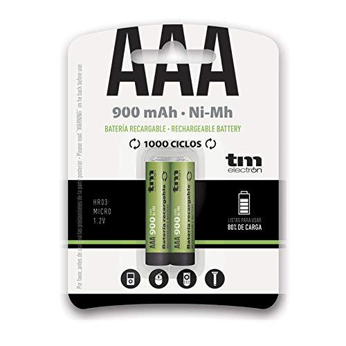 TM Electron TMVH-AAA900H - Pack de 2 Pilas Recargables, Color Verde