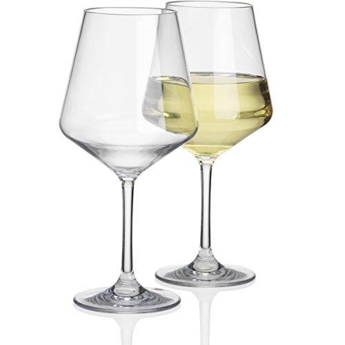 #11 2 Stück Polycarbonat 450ml Standart Weinglas in Echtglasoptik bruchfest - 2X Camping Glöser Wasser Glas Kunststoff