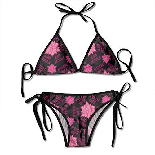 Candi-Shop Damen Badeanzüge Ficken Frauen zweiteiliges Dreieck Bikini Set Badeanzüge Badeanzüge Beachwear
