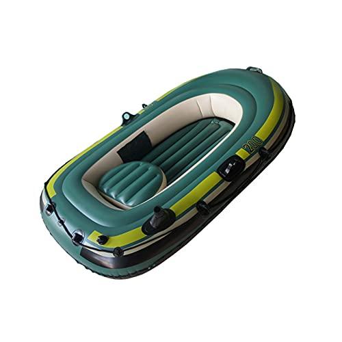 Gaoweipeng 2 Personas Kayak Hinchable,Plegable Conveniente Bote Inflable PVC Ambiental Espesar Cámara De Aire Doble Independiente Seguridad Estabilidad Comodidad Piragua