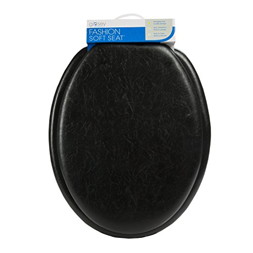 Ginsey Home Solutions 80009 Ginsey Soft, Black Elongated Toilet Seat