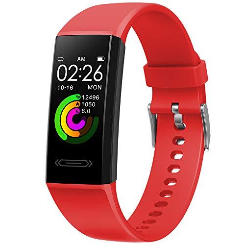 Pulsera Inteligente 1,14 Pulgadas De Frecuencia Cardíaca por Segundo Control Automático De La Salud Temperatura Corporal Reloj Inteligente Deportivo Impermeable V100S Deslizante Estilo Rojo
