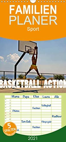Basketball Action - Familienplaner hoch (Wandkalender 2021, 21 cm x 45 cm, hoch)