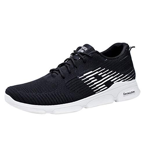 AIni Herren Schuhe,2019 Neuer Heißer Beiläufiges Mode Atmungsaktives Mesh Schuhe Sneakers Freizeitschuhe Student Running Shoes Partyschuhe Freizeitschuhe(44,Weiß)