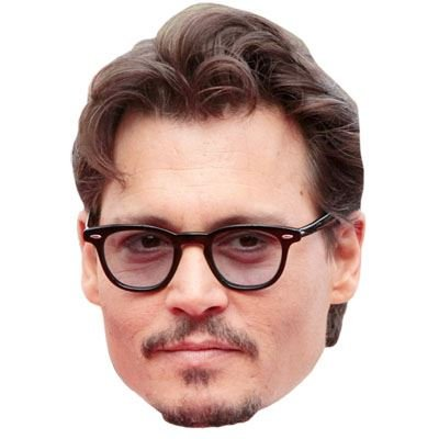 Celebrity Cutouts Johnny Depp Maske aus Karton