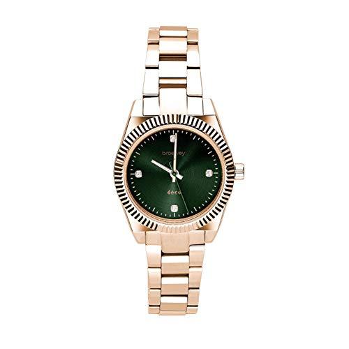 Reloj de Pulsera BROSWAY Deco para Mujer en Acero PVD de Oro Rosa con circonita WDC24K