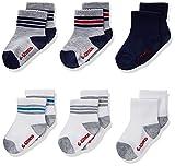 Hanes Boys' Toddler Crew Non-Skid Socks, Assorted 2T-3T