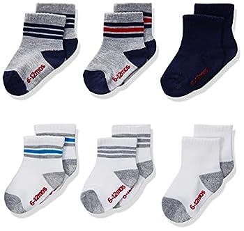 Hanes Boys  Toddler Crew Non-Skid Socks Assorted 6-7.5