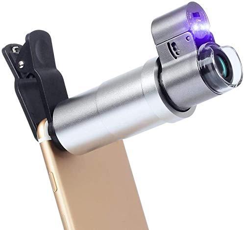 LED-microscoop, 200X optische zoommicroscoop Vergrootglaslens met universele clip voor telefooncamera