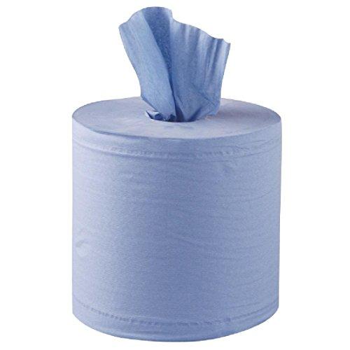 Jantex Handtuchrollen für Innenabrollung blau 2-lagig - 6 Stück