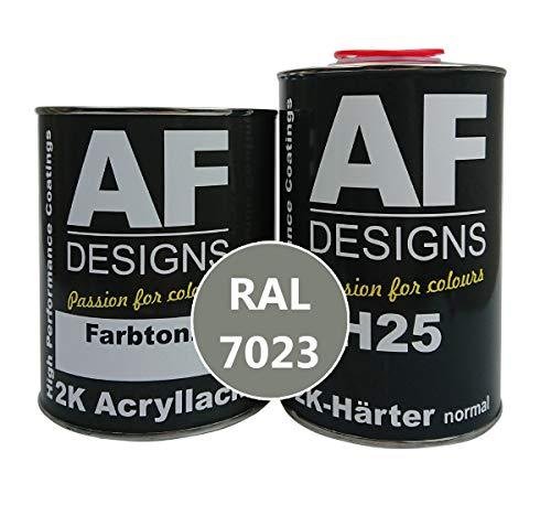 Alex Flittner Designs 2K Acryl Lack Autolack 7,5 kg Set RAL 7023 BETONGRAU glänzend incl. Härter