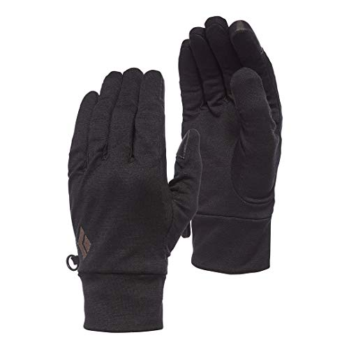 Black Diamond Handschuhe LIGHTWEIGHT WOOLTECH GLOVES, Anthracite, Small, BD801006