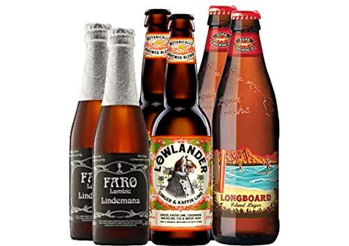 Bier Grill-Paket Huhn - 6 Bierspezialitäten - besonders lecker zu Huhn - Bier aus Hawaii - Bier aus den Niederlanden - Bier aus Belgien