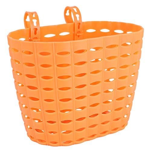 CLISPEED Orange Kinder Fahrrad Rollerkorb Kinder Fahrradkorb Vorne Lenker Korb für Jungen Und Mädchen