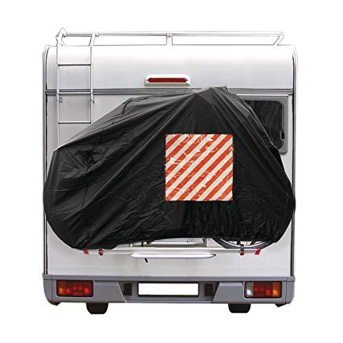 Cartrend 10162 Caravan Fahrradschutzhülle Heckmontage 1 Stück Fahrradschutz Fahrradhülle Camping Campingzubehör Wohnwagen Wohnmobil