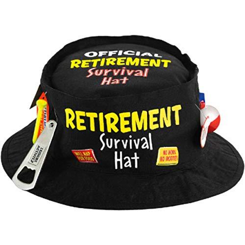 Retirement Party Survival Hats, 3 5/8