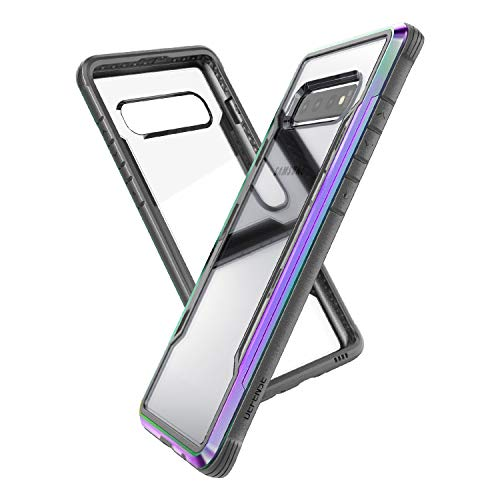 Raptic Shield, Samsung Galaxy S10e (Formerly Defense Shield) - Military Grade Drop Tested, Anodized Aluminum, TPU, and Polycarbonate Protective Case, Samsung Galaxy S10e, Iridescent