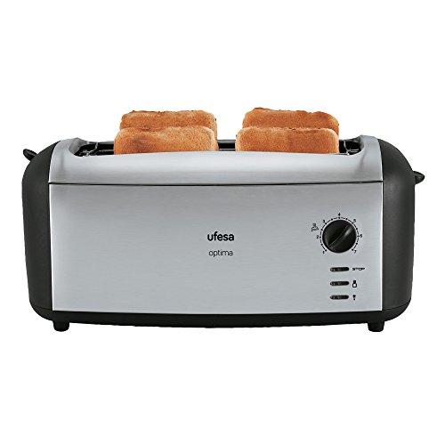 Ufesa TT7970 - Tostadora Master Toast, color negro y plata