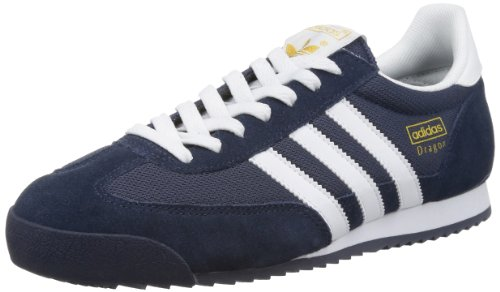 adidas Originals Dragon, Zapatillas para Hombre, Azul (New Navy/White/Metallic Gold), 43 1/3 EU