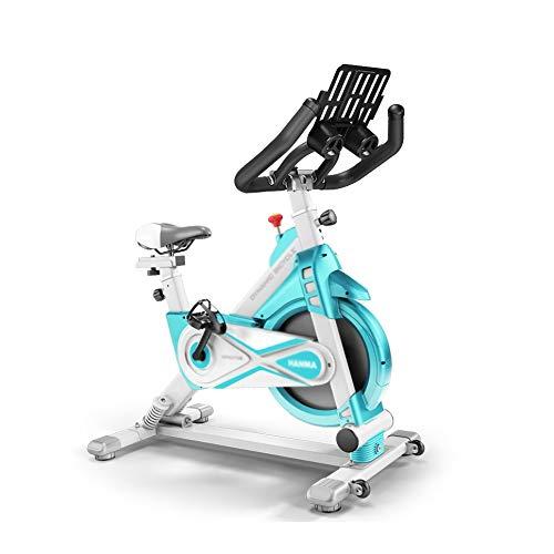 XJWWW-URG Bicicleta estacionaria de interior, bicicleta giratoria, manillar y asiento ajustables, velocidad de lectura de la computadora, distancia, tiempo, calorías, sensor de frecuencia cardíaca, bi