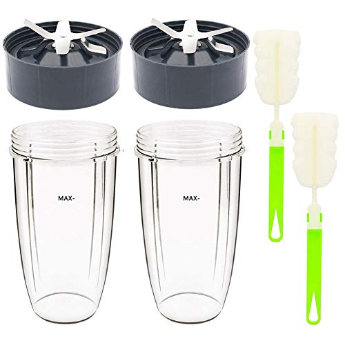 Kamenda 32Oz Cup and Extractor Blade Replacement Parts Blender Accessories for 600W/900W Models