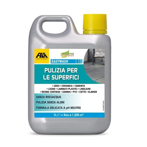 FILA Surface Care Solutions Detergente Neutro Multisuperficie, Incolore, 1 Litro