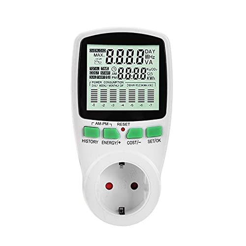 LiuliuBull Digital-Leistungszähler Steckdose Elektrische Wattmeter Energieverbrauch Monitor Mess Socket Analyzer LCD-Anzeige