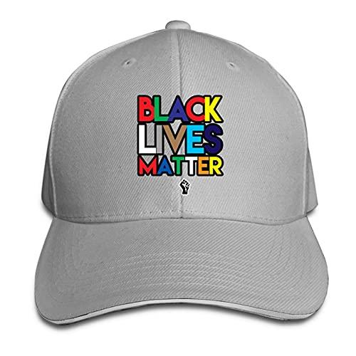 XCNGG Casquette pour Hommes et Femmes, BLM Black Lives Matter Casquette Sandwich à visière réglable Casquette Cowboy Hat