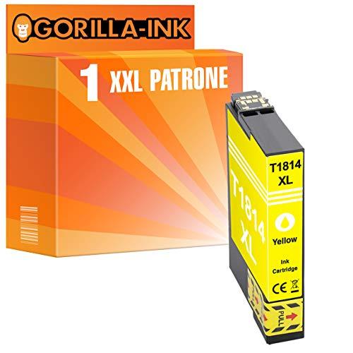 Gorilla de Ink 1x Cartuchos de Tinta XXL (compatible con Epson gi1634Yellow WorkForce WF 2010W 2015WF 2510WF WF 2520NF