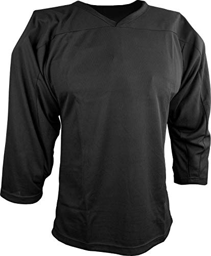 Sports Unlimited Adult Hockey Practice Jersey for Men Black