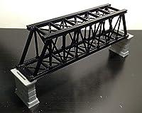 Outland Models 鉄道模型風景 桟橋Zゲージ付きトラス橋-黒/シングル